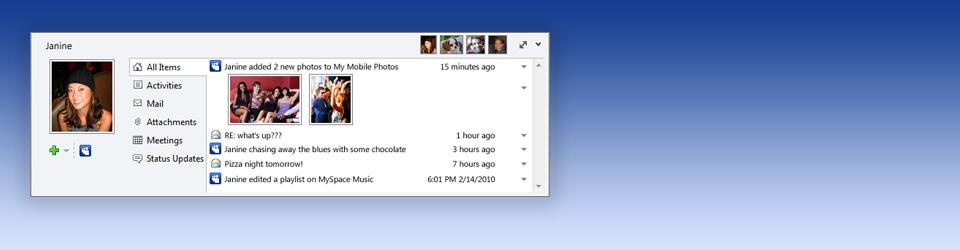Windows 7 MySpace for Outlook 1.0.0.5 beta full